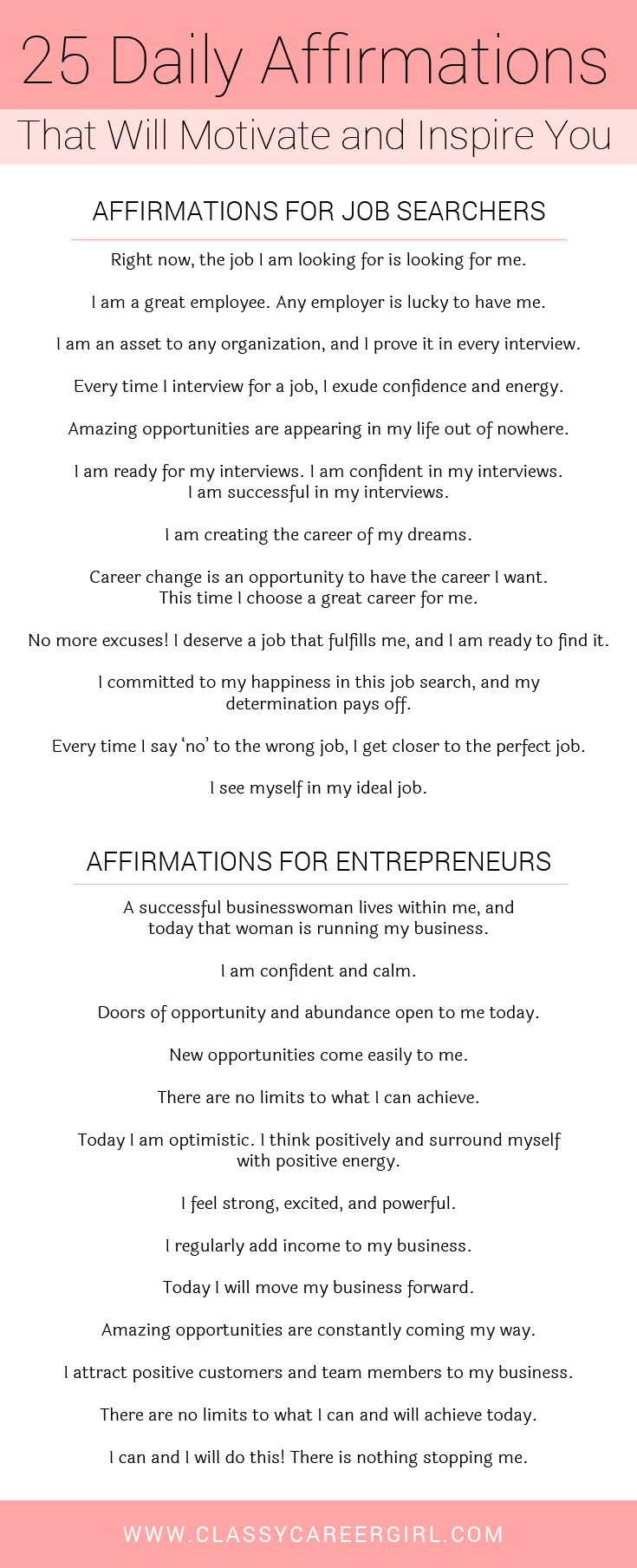 Read this collection of positive affirmations for workplace. #affirmation #business #career #productivity #money #cashflow #entrepreneurs #purpose #positivethinking